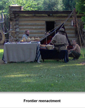 Living on the Frontier 001 Frontier reenactment