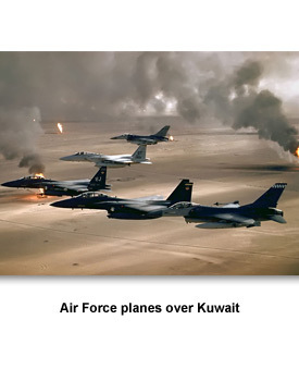 Going to War 01 Air Force planes over Kuwait
