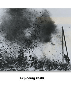 WWII Fighting 01 Exploding shells