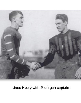 Depression Hard Sports 01 Jess Neely  with Michigan captain