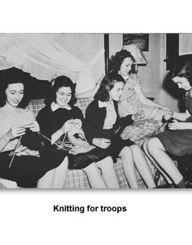 WWII Doing Your Part 01 Knitting