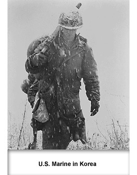 Korean War 01 Marine in Korea