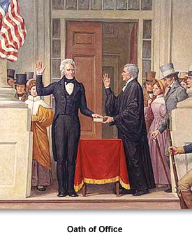 Jackson Presidency 01 Oath of Office