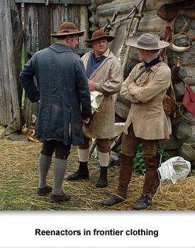 What They Brought 01 Reenactors in frontier clothing