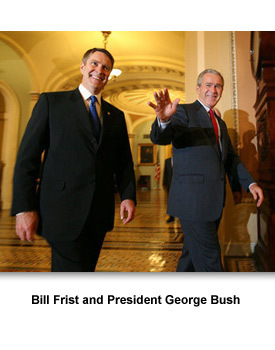 National Leaders 02 Frist and Bush