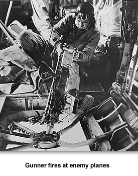 WWII In the Air 02 Gunner Fires