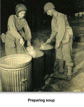 WWII Military in TN 02 Preparing Soup