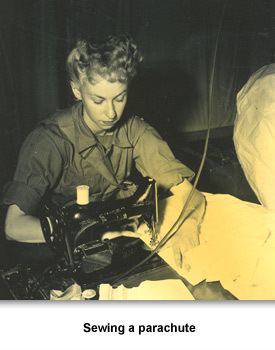 WWII Women Woeking 02 Sewing Parachute