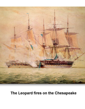 War of 1812 02 The Leopard fires on the Chesapeake