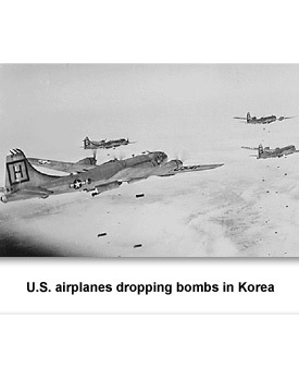 Korean War 02 US Dropping Bombs