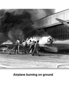 WWII War Begins 03 Airplane burning