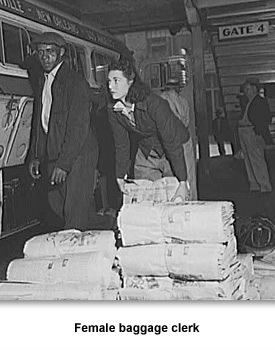 WWII Women Woeking 03 Female Baggage Clerk