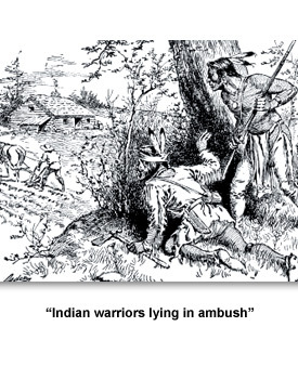 Living on the Frontier 03 ?Indian warriors lying in ambush?