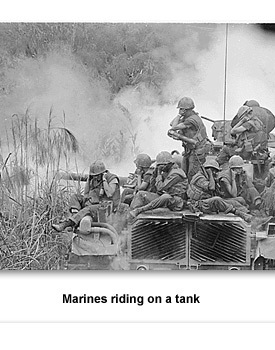 CW Vietnam 08 Marines on a tank