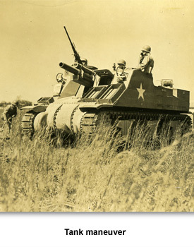 WWII Military in TN 03 Tank Maneuver