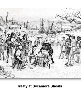 Land & Indians 03 Treaty at Sycamore Shoals