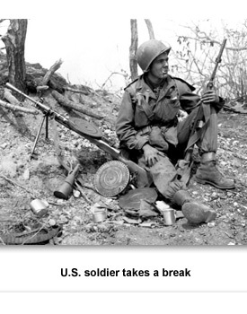 Korean War 03 Soldier on Hill