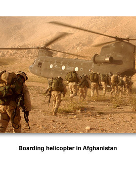 Going to War 04 Boarding helicopter in Afghanistan