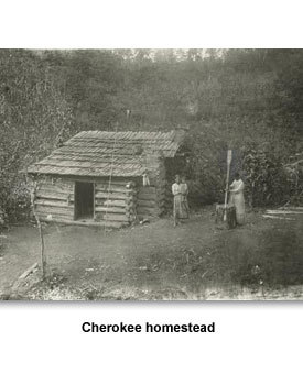TN People 05 Cherokee homestead