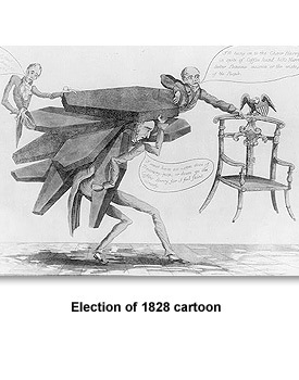 Jackson Running 05 Election of 1828
