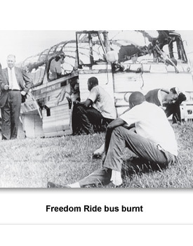 CW/CRM Freedom Rides 002 Burned Bus