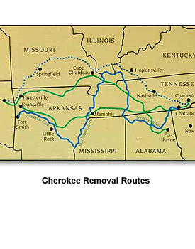 Jackson Removal 07 Cherokee Removal Routes