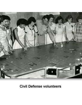 CW Nuclear War 10 Civil Defense volunteers