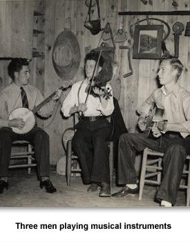Depression music 07 3 men playing music
