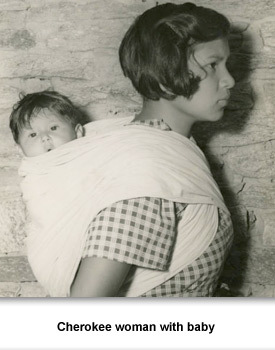 Hard Times 06 Cherokee woman with baby