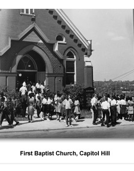 CWCR Sit-Ins 001 1st Baptist Church