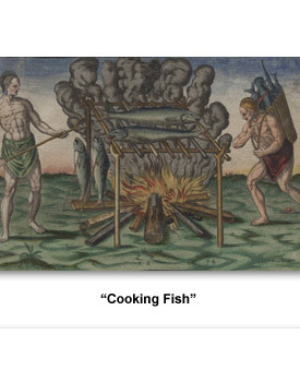 Indians How They Lived 02 Cooking Fish