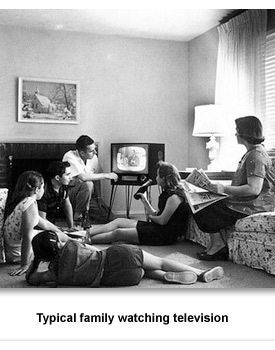 CR How They lived 01 Family Watching TV