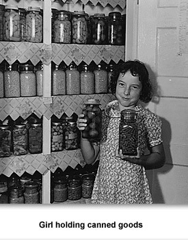 WWII Home 01 Girl with Jars