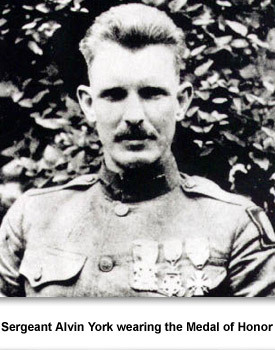Alvin C York 04 With Medals