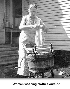 How People Lived 05 Washwoman