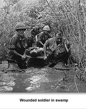CW Vietnam 02 Wounded in Swamp